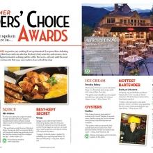Readers Choice Awards for Aspen Magazine Summer Menu Guide
