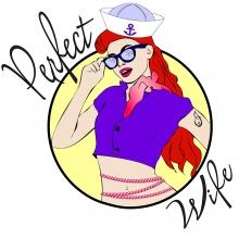 Perfect Wife Sailboat Logo